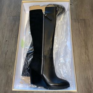 BRAND NEW Wedge Micheal Kors Black Boots